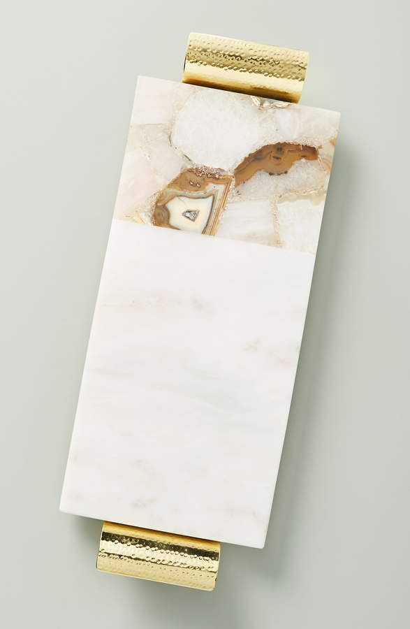 Anthropologie Morgan Agate Marble Cheese Board Marble Cheese