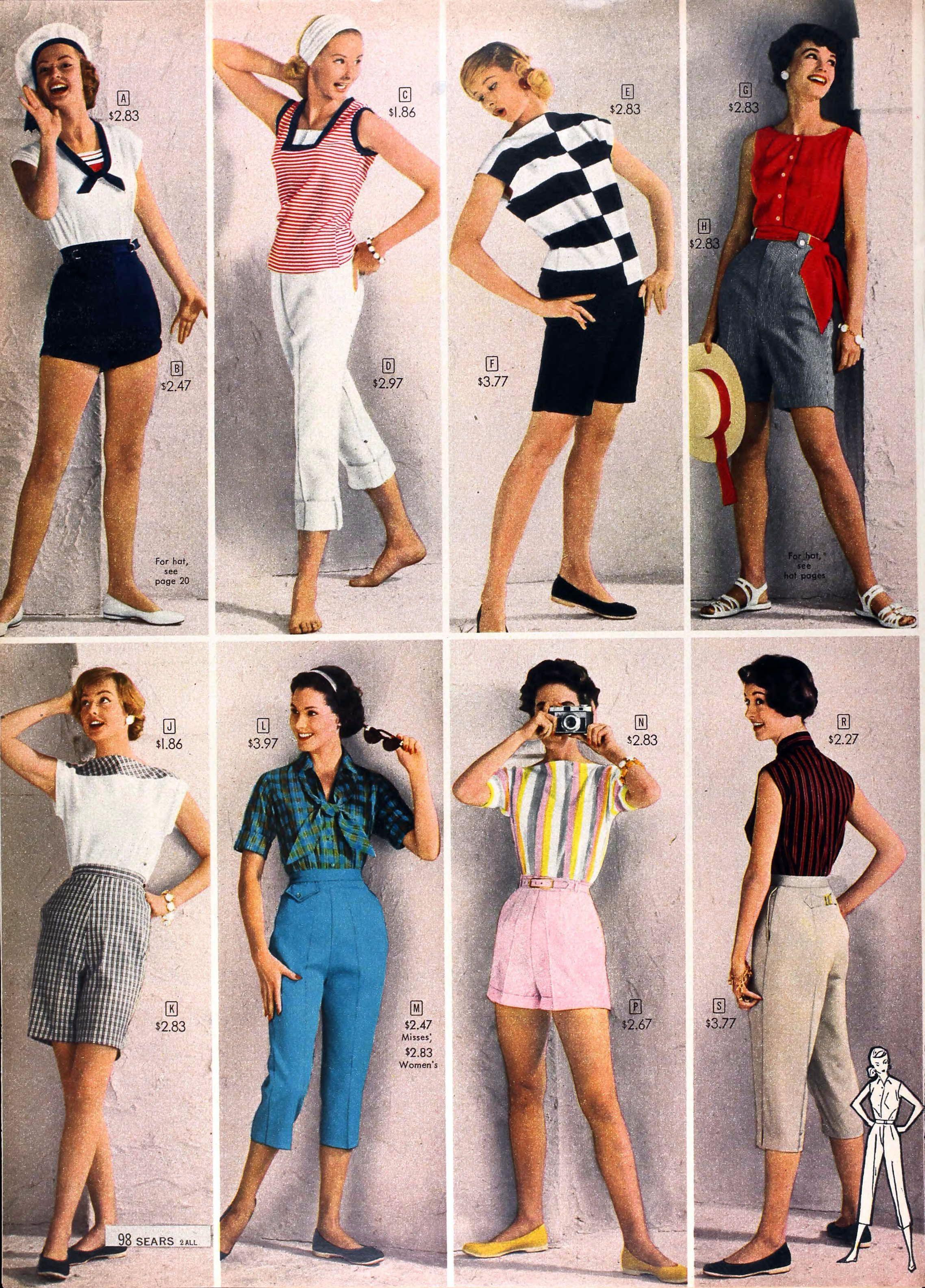 sears catalog spring summer 1958 women 39 s fashion. Black Bedroom Furniture Sets. Home Design Ideas