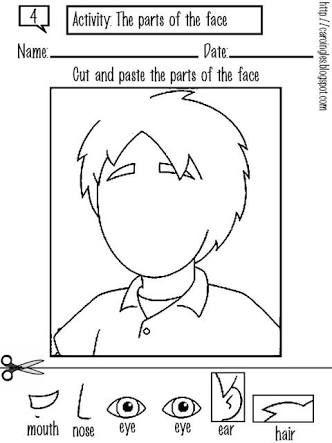 Image result for printable worksheet for nursery one kids Facial