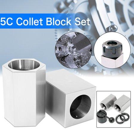 RINGS /& COLLET CLOSER HOLDER HEX SQUARE 5C COLLET BLOCK SET
