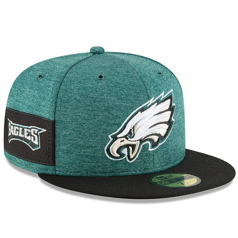95387fe8 Philadelphia Eagles New Era 2018 NFL Sideline Home Official 59FIFTY Fitted  Hat – Midnight Green/Black