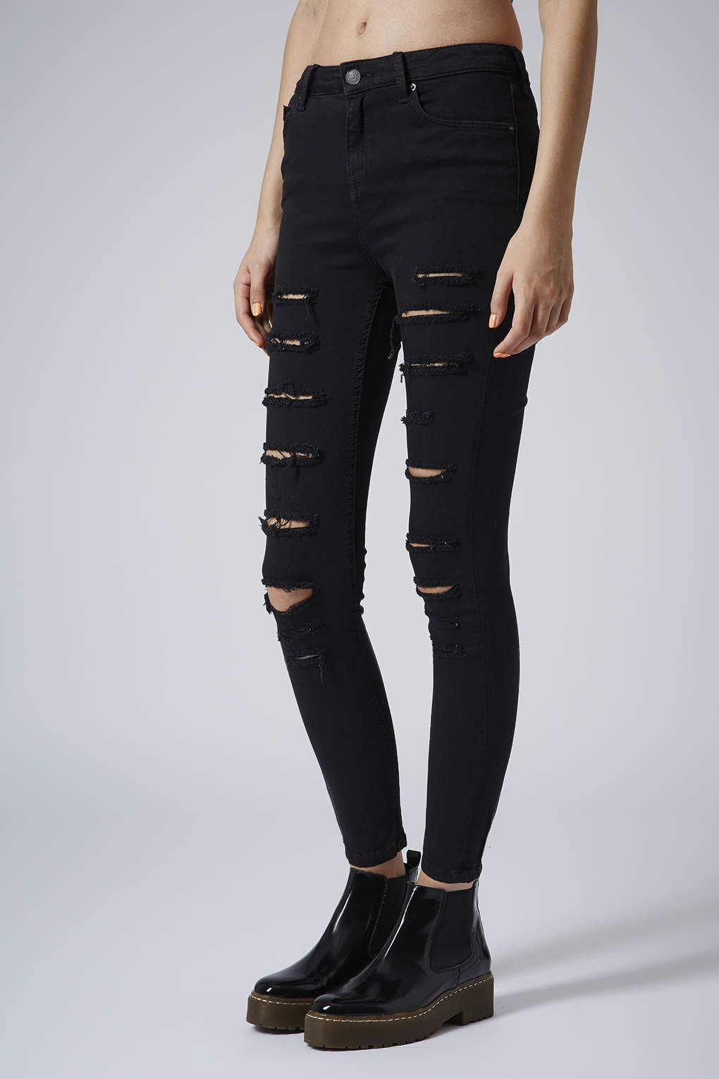 8e215c841db MOTO Black Super Ripped Jamie Jeans | clothes | Distressed skinny ...