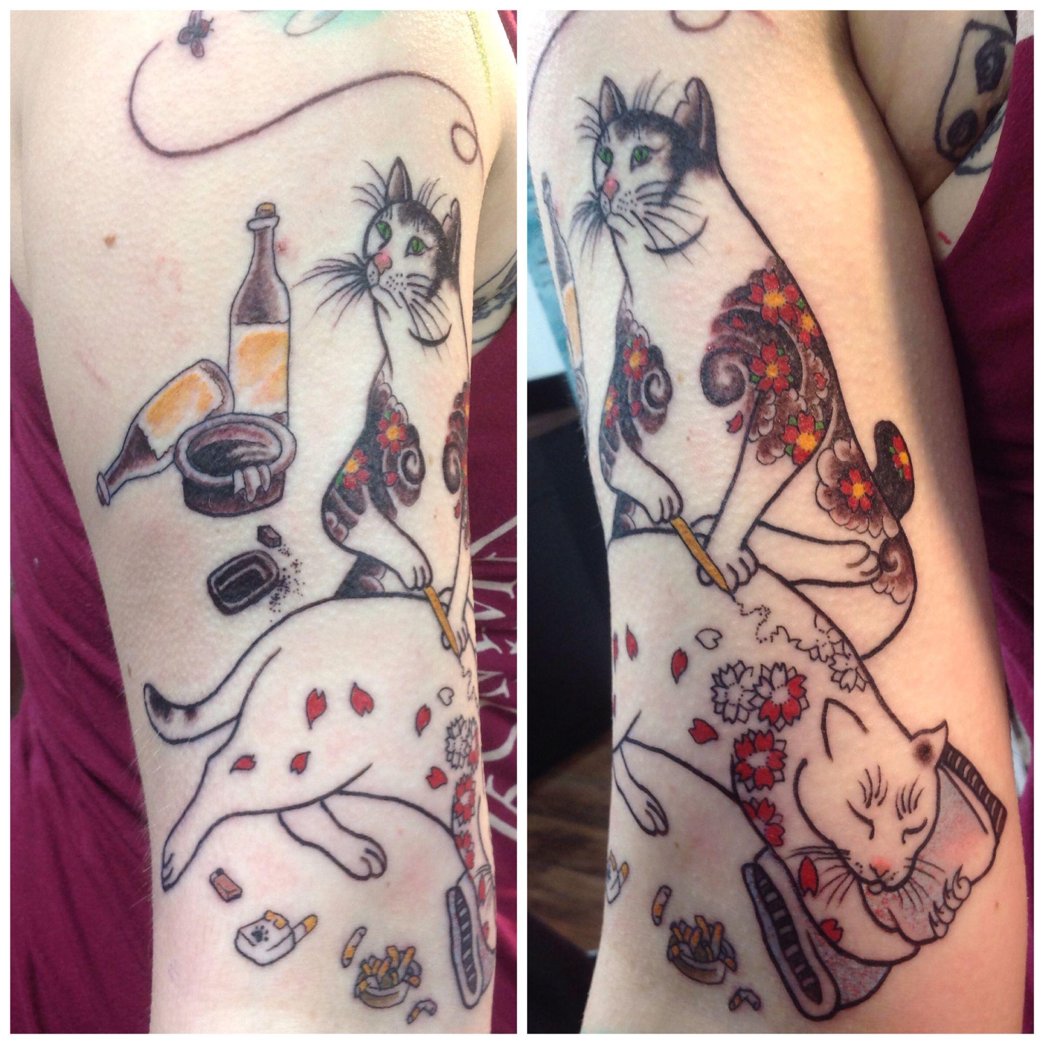 Monmon cat from horitomos book inspirational tattoos