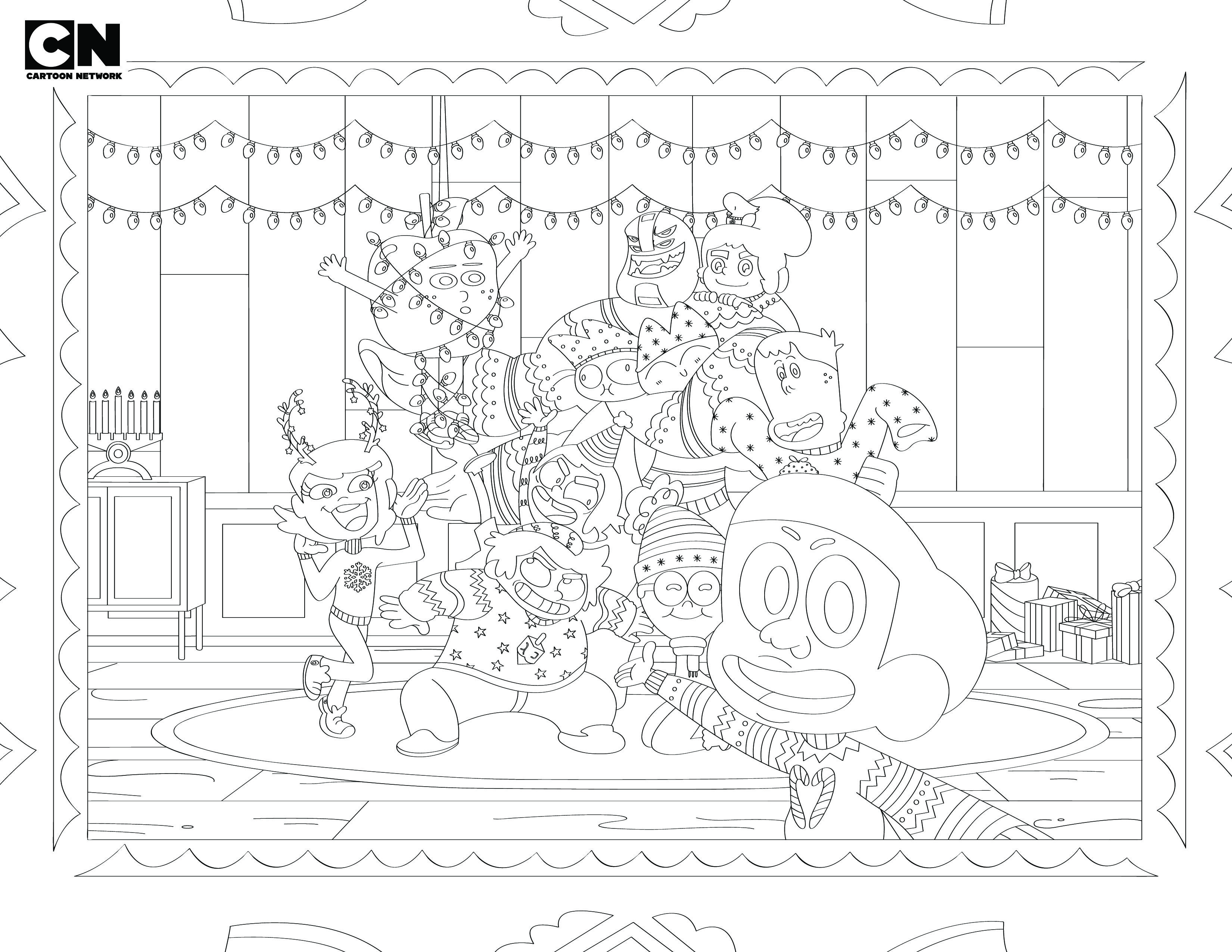 Cartoon Network Holiday Coloring Page Coloring Pages Holiday Color