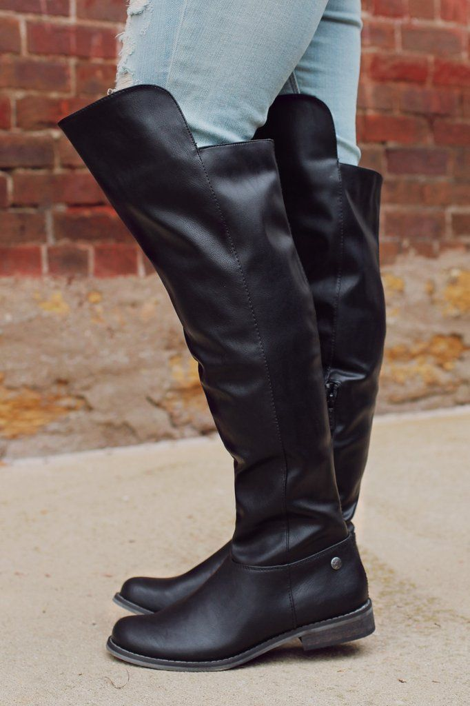 Black Over the Knee Boot – UOIOnline.com: Women's Clothing Boutique