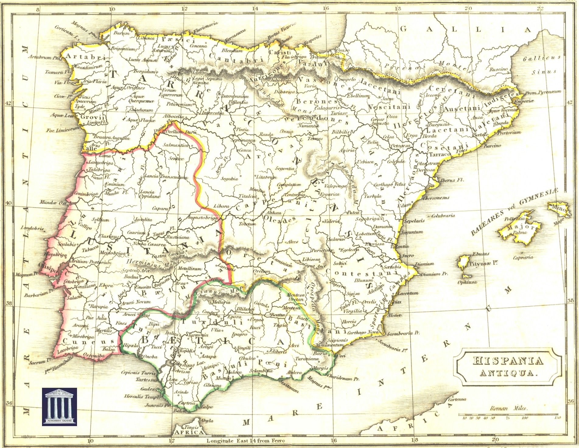 Image Result For Roman Spain Map Roman History Pinterest Roman