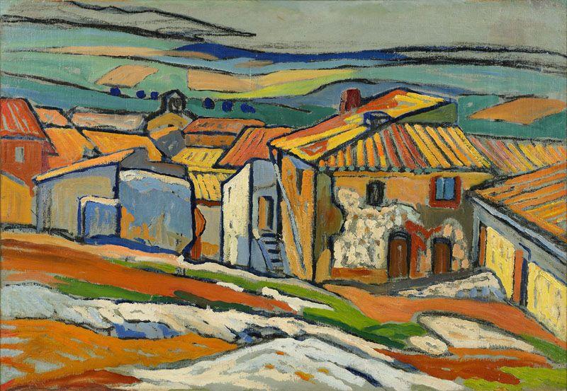 Les toits d'Allauch, 1909. - VERDILHAN, Louis Mathieu (1875-1928), Galerie A. Pentcheff - Expertise Achat Vente de Tableaux Marseille
