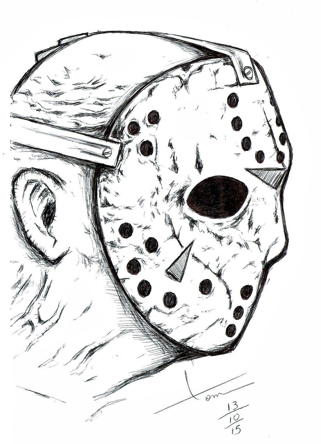 Halloween 2020 Ending Jason Voorhees jason sexta feira 13 desenhos de lapis desenhos a in 2020 | Friday
