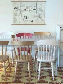 SOLD) ≥ 8 Sterke boeren stoelen, landelijke stijl, houten