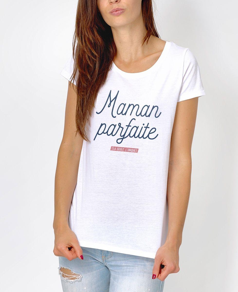 052613a43ec0 T-shirt Femme Maman Parfaite Blanc by Madame TSHIRT