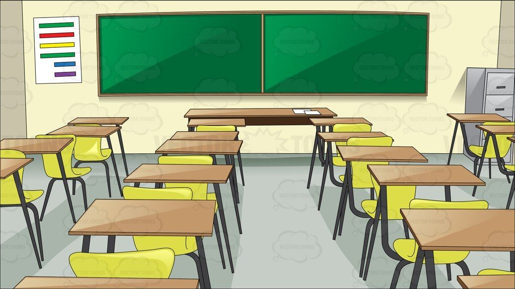 School Table And Chair Clipart Classroom School Tables Clip Art