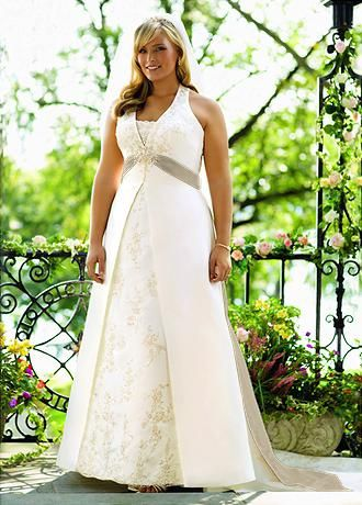 Perfect Larger Size Clothes Ivory Wedding DressesWedding