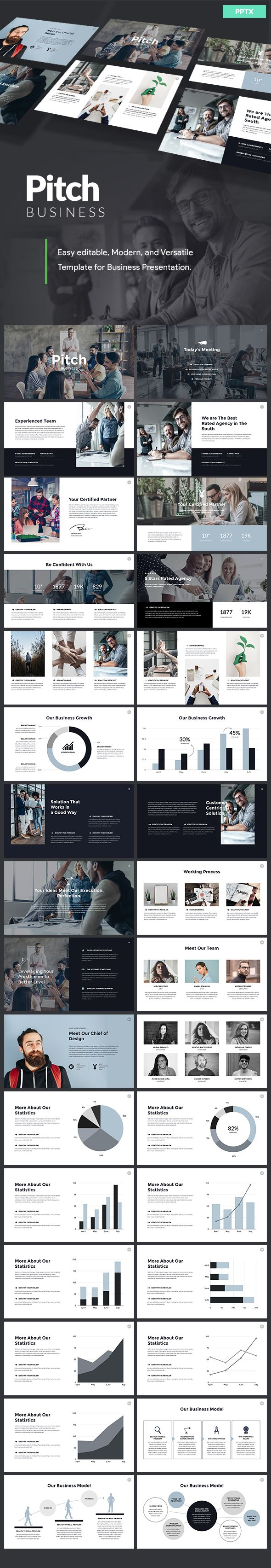 business pitch powerpoint template powerpoint templates