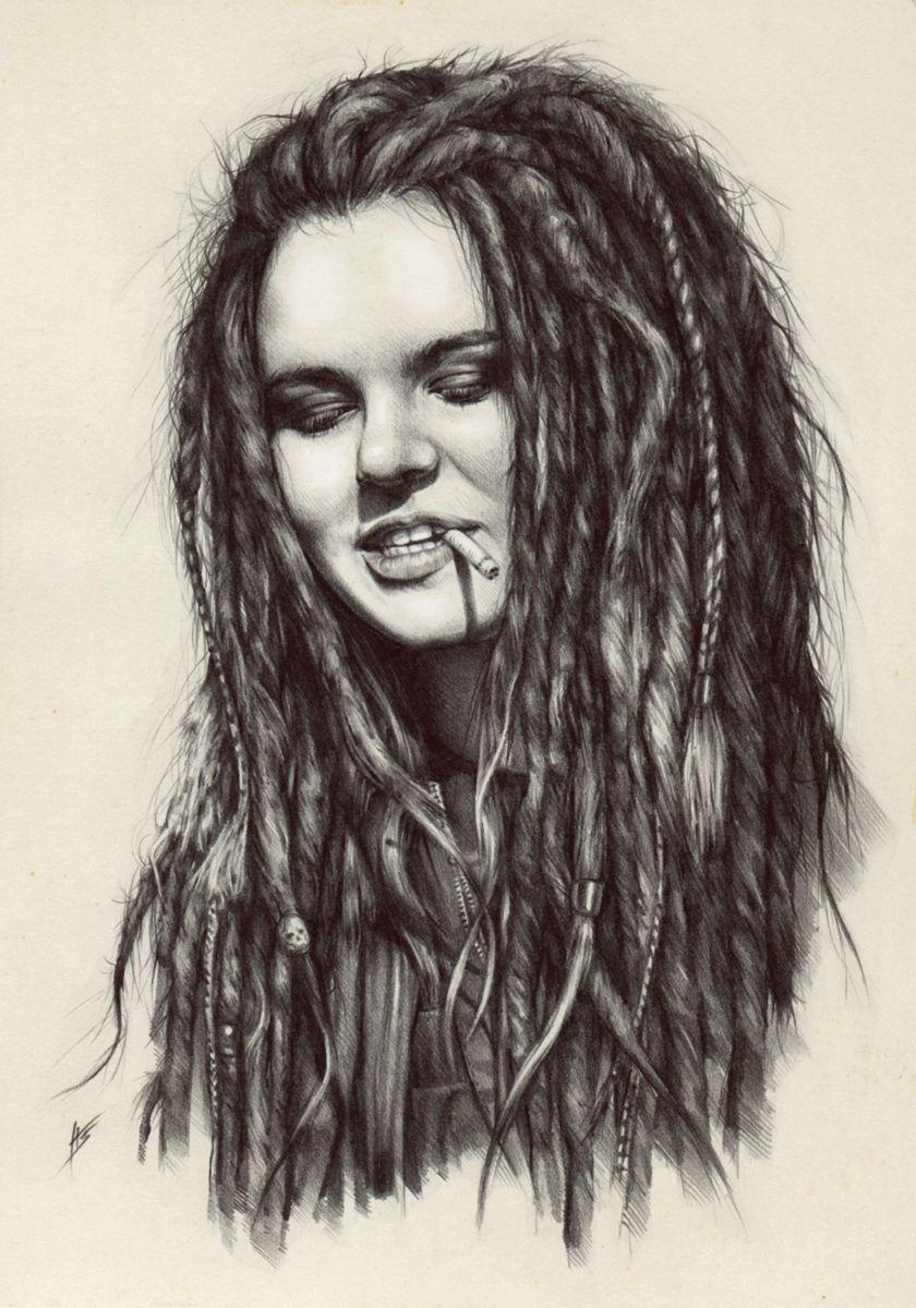 Dread Girl By Antarcticspringiantart On @deviantart Dreads Girl Drawing