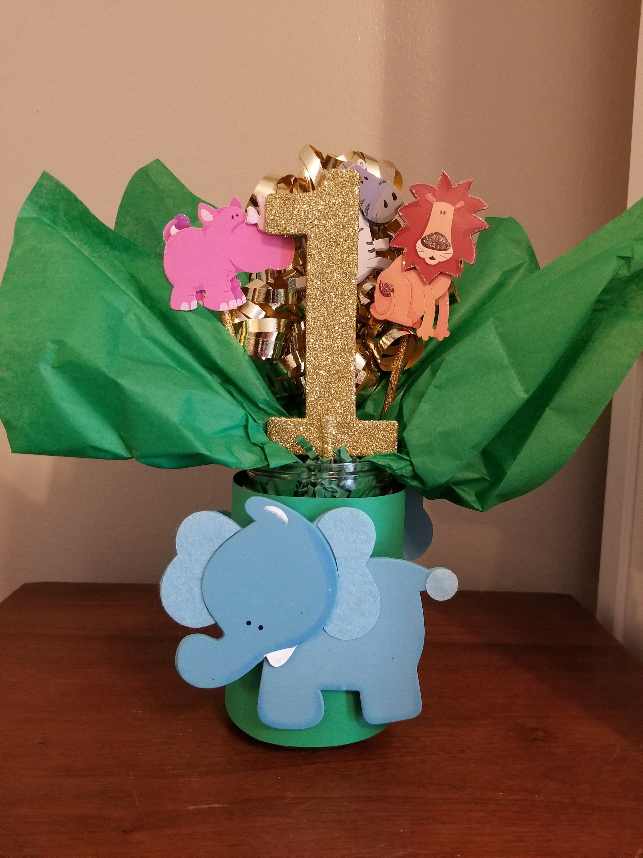 Safari Animal Birthday Centerpiece (LISTING FOR ONE), Jungle Animals Birthday Centerpiece, Zoo Animal Birthday Party, Jungle Birthday Party #safaribirthdayparty