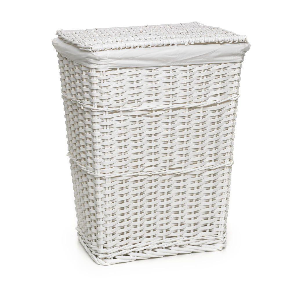 Wilko Split Wood Laundry Hamper White Image room Pinterest