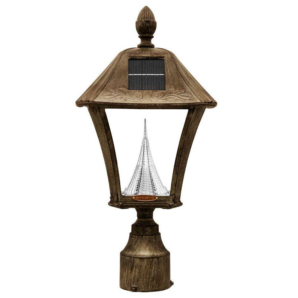 Gama Sonic Baytown Solar Weathered Bronze Outdoor Post Wall Light With Bright Warm White Leds In 2020 Solar Led Lights Led Outdoor Lighting Outdoor Light Fixtures