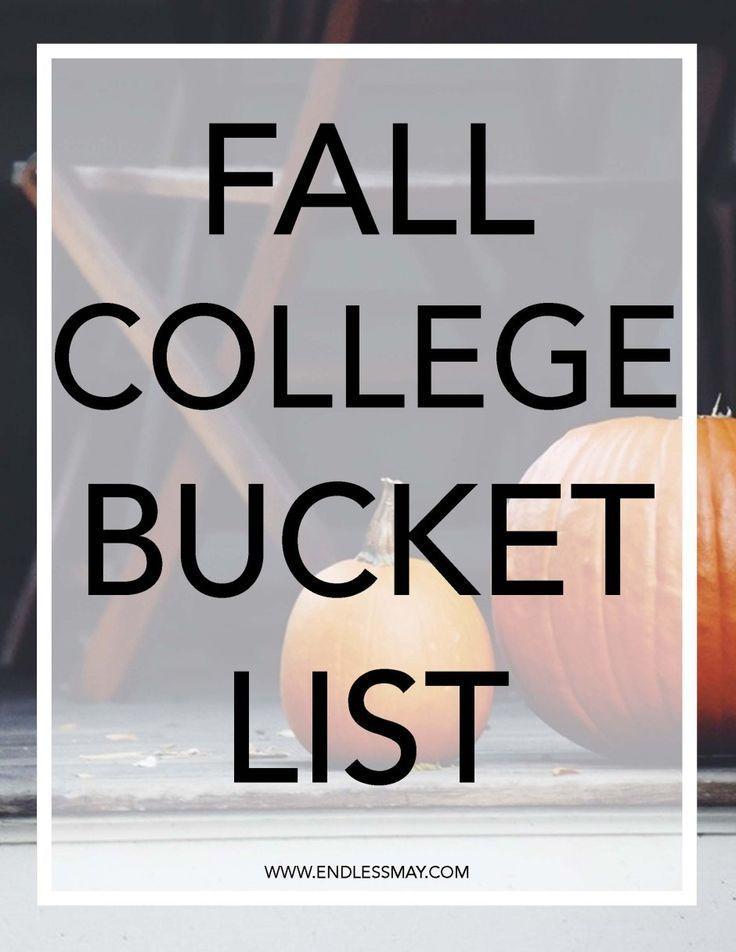 Fall College Bucket List #fallbucketlist