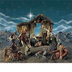 Magnificent Nativity Scene From Costco They Always Have Such Nice Sets Download Free Architecture Designs Crovemadebymaigaardcom