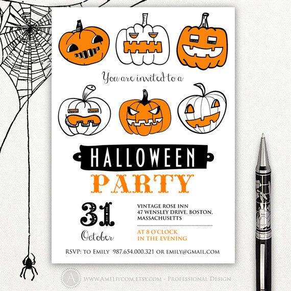 Printable Halloween Invitation Templates Halloween Party