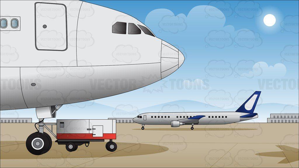 Airport Runway Background Airport Jumbo Jet Aircraft