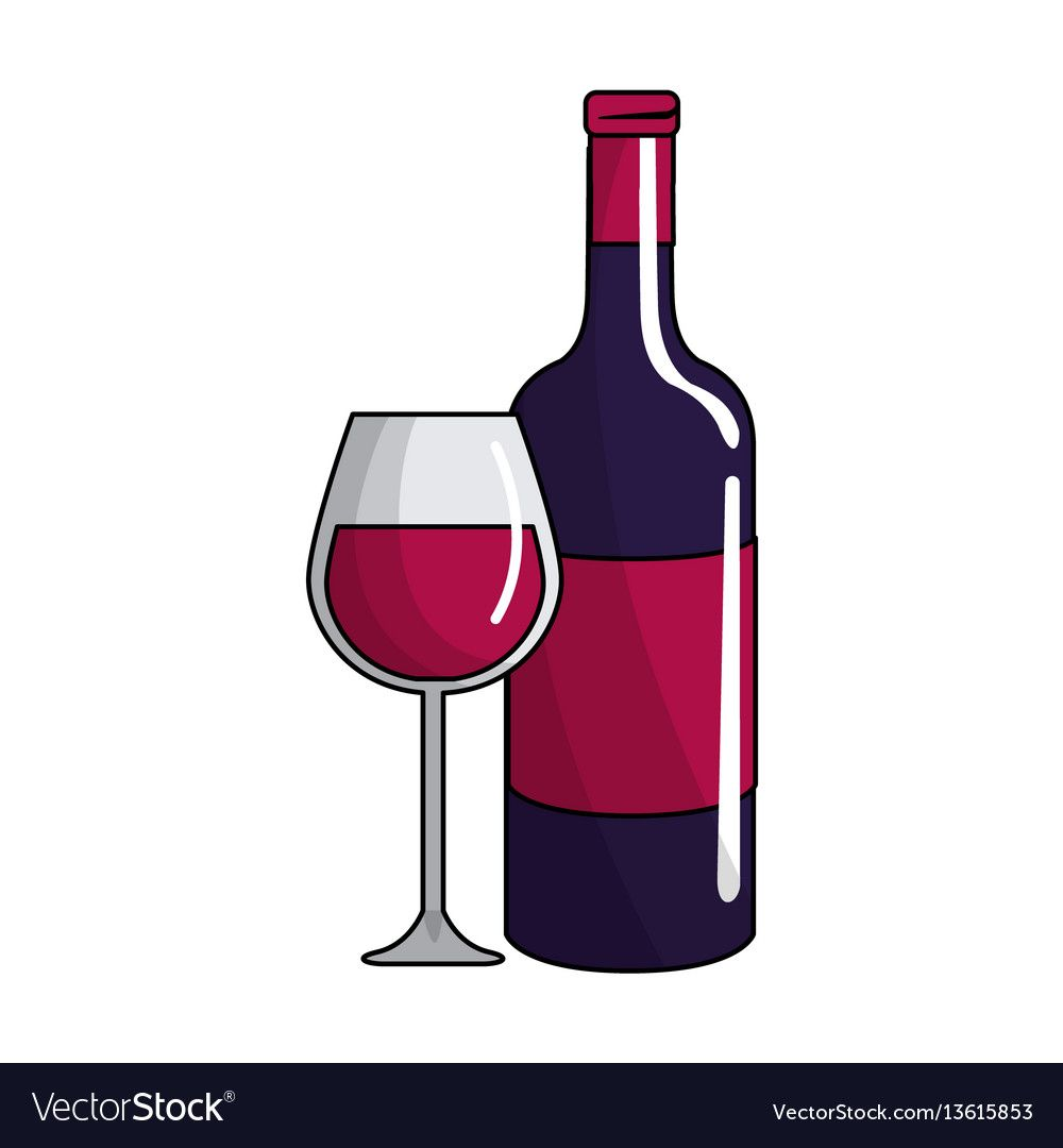 Glass And Bottle Of Wine Icon Vector Illustration Design Download A Free Preview Or High Quality Adobe Illustrator Ai Eps Pdf An In 2020 Wine Icon Wine Bottle Wine