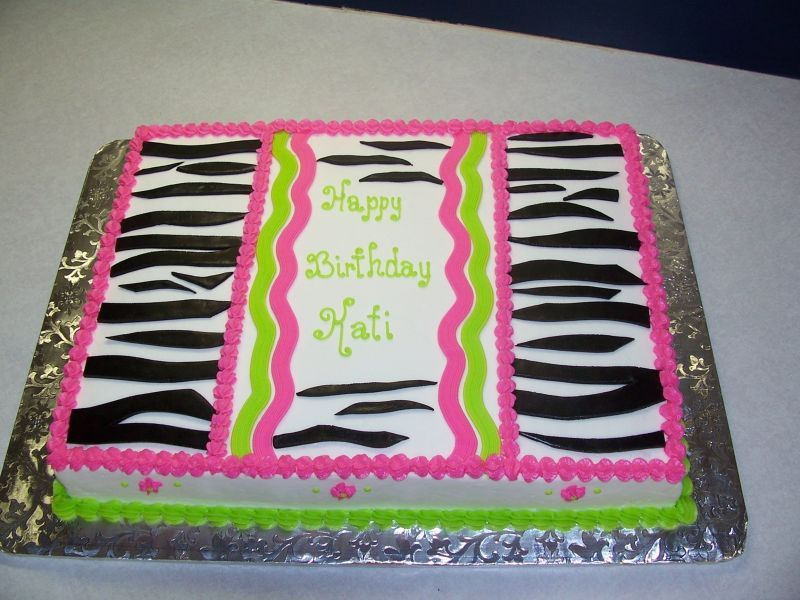 Birthday Cake With Zebra And Hot Pink Top Cute For My Taylor