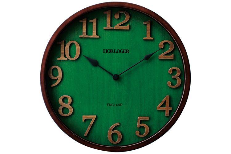 楽天市場 送料無料 電波時計 イングランド インターフォルム 掛け時計 時計 掛時計 壁掛け時計 おしゃれ 壁掛け 電波時計 北欧 テイスト 木製 ホワイトデー ギフト 緑 グリーン和モダン ブランド ウッド調 壁掛け時計 インテリア 壁時計 Cl 7542 新築祝い 内祝い