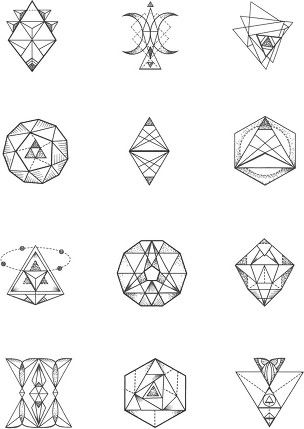 Mountains Second Row In Centre Geometric Tattoo Meaning Small Geometric Tattoo Geometric Tattoo Design