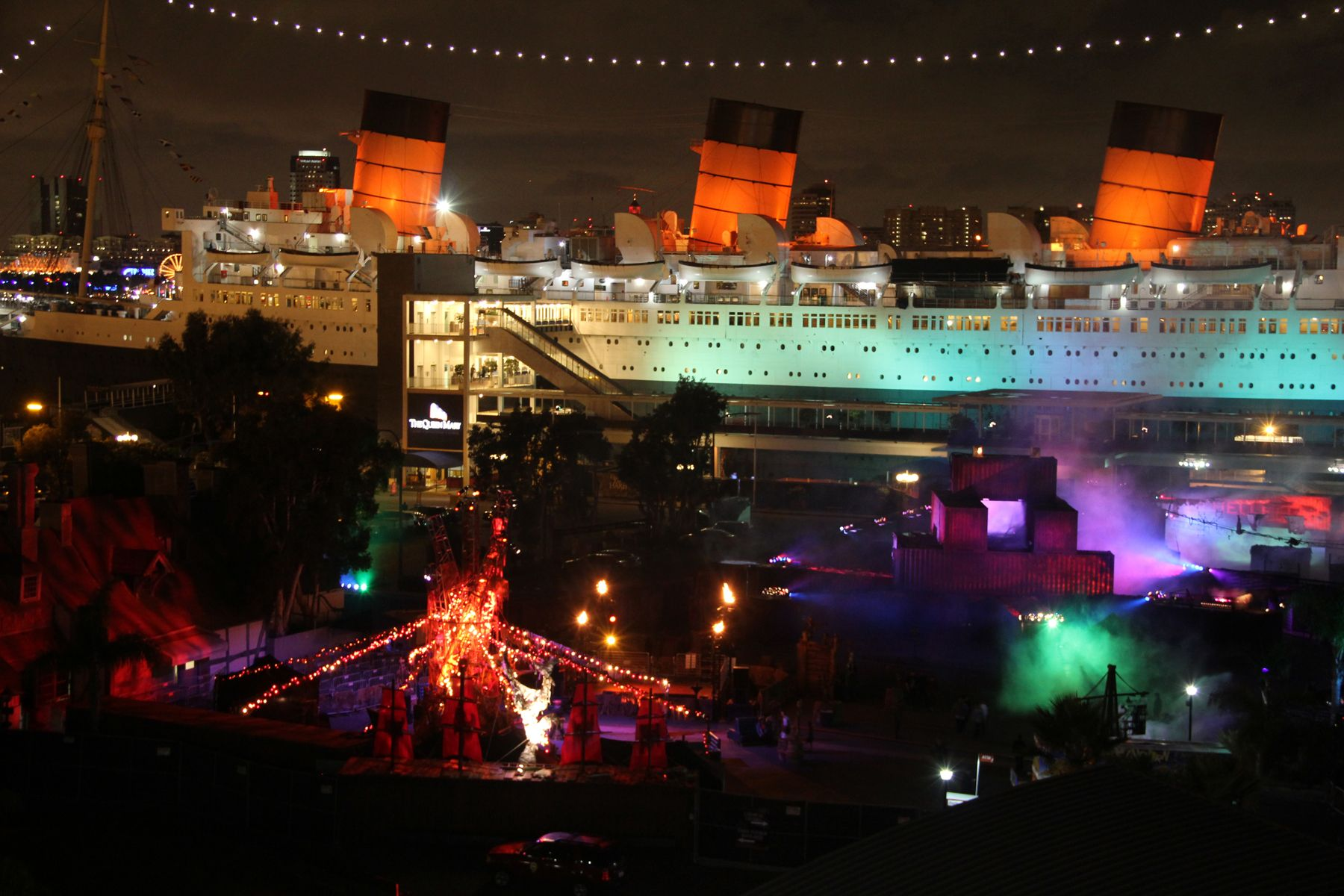 Queen Mary in Long Beach, California. Halloween party time