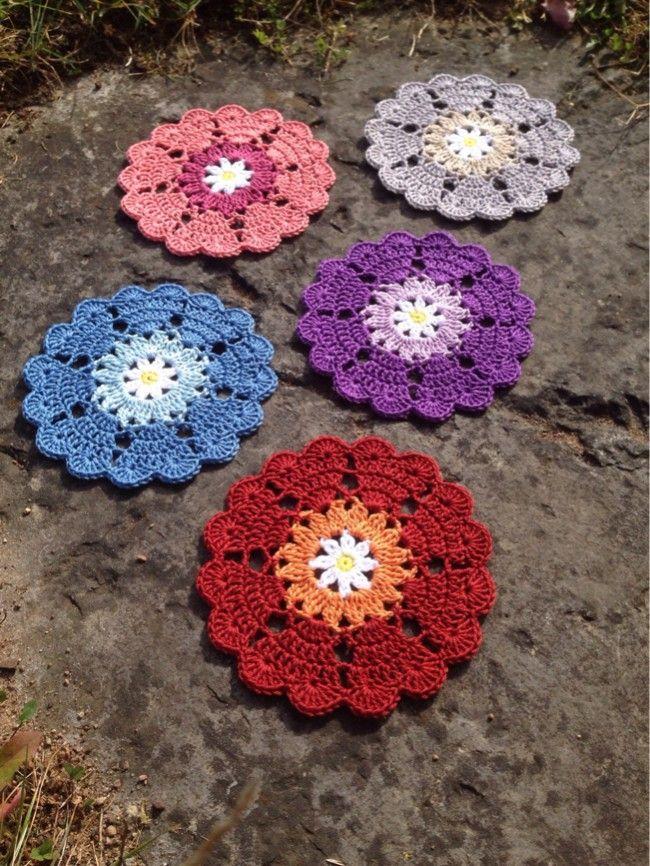 Free pattern - - Heart Coasters @ Crochet Millan (US terms ...