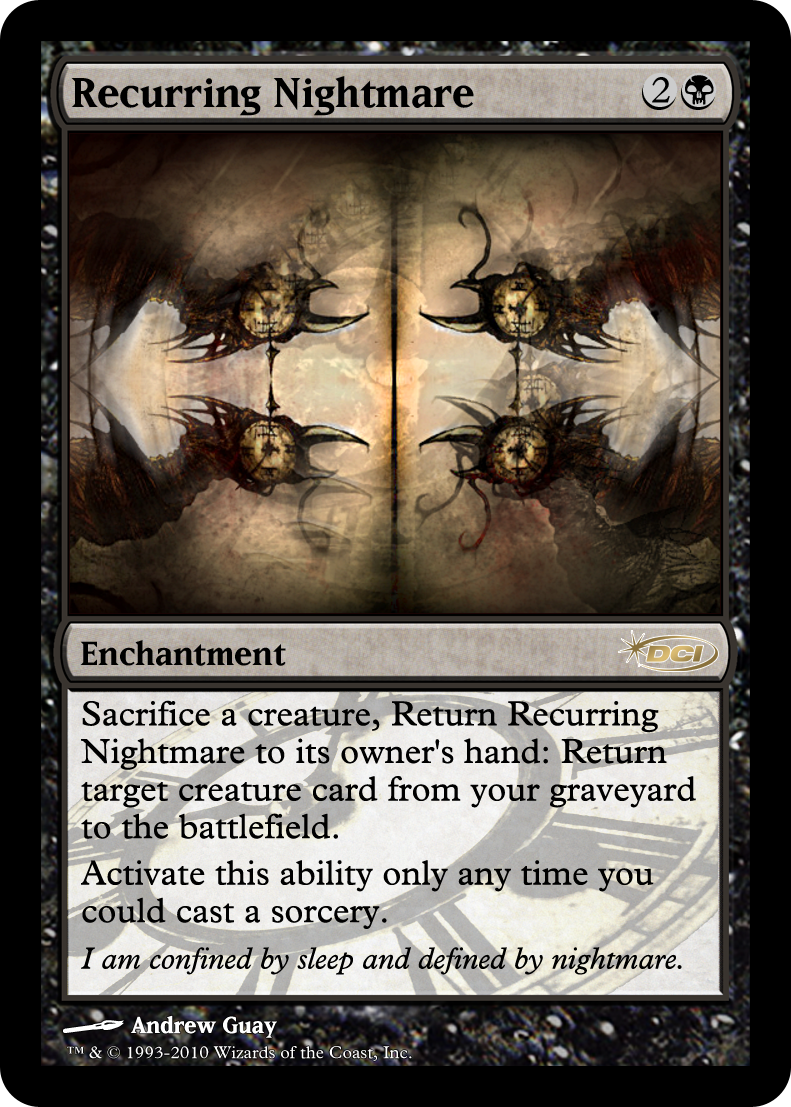 4 x NIGHTMARE NM mtg M16 Black Nightmare Horse Rare