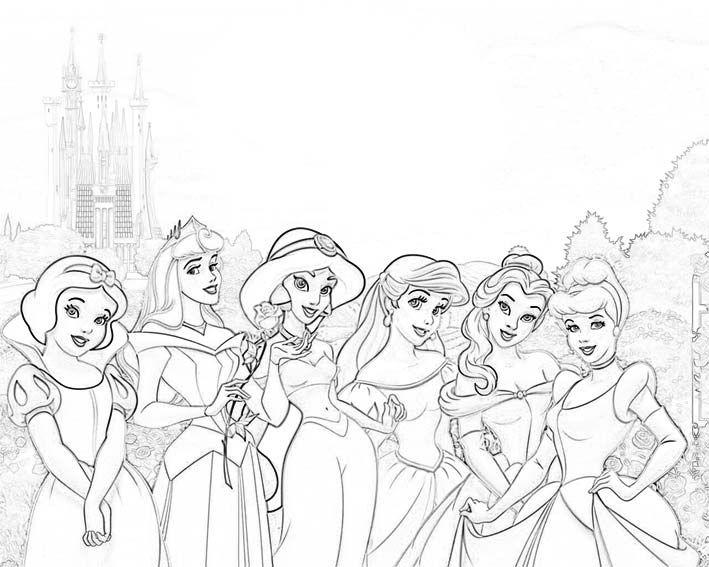 Pin de Eva Gubik en coloring 6 | Pinterest | Colorear princesas ...