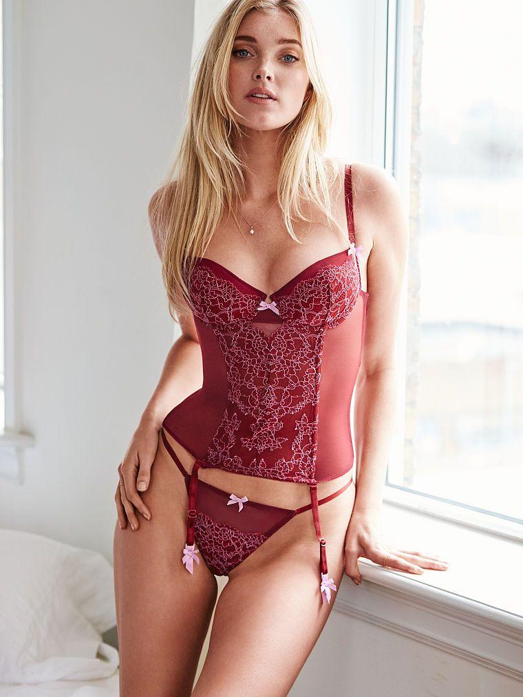 446d7b253a4 Elsa Hosk - Lace Bustier - Dream Angels - Victoria s Secret