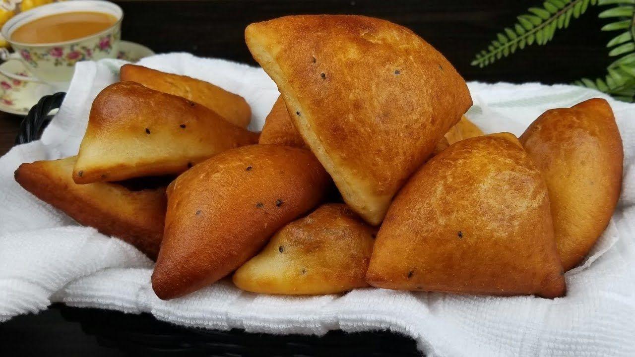 فطائر صباحية ومسائية حضرمية سهلة بدون فرن مقصقص باخمري خمير حالي Donut Triangles Recipe Youtube Food Vegetables Chef