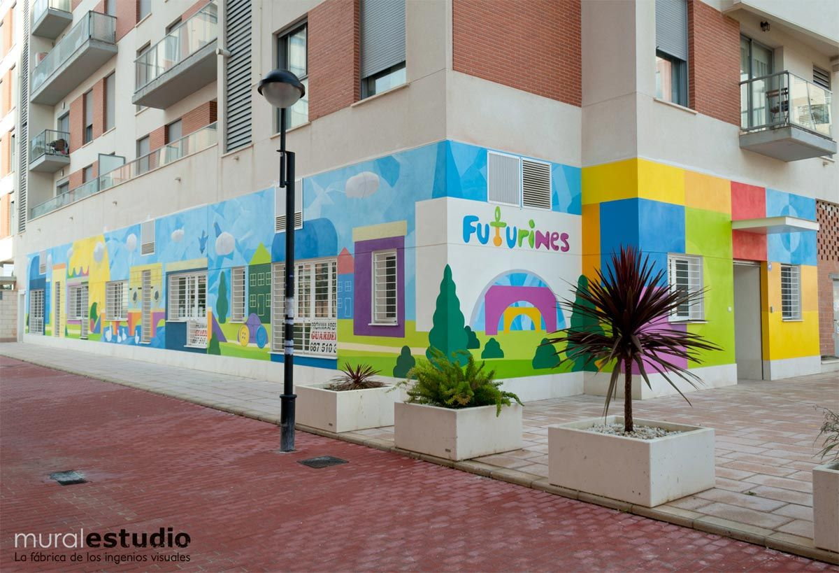 Muralestudio murales infantiles my preschool en 2019 - Decoracion de fachadas ...