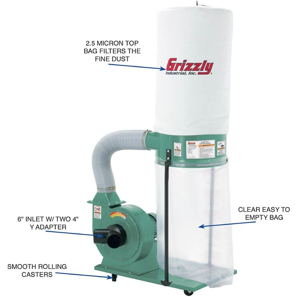Best 25 Grizzly Dust Collector Ideas On Pinterest Dust Collection Grizzly Table Saw And Dust