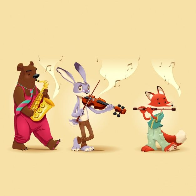 Download Animals Playing Music Instruments For Free Music Illustration Music Cartoon Bear Art