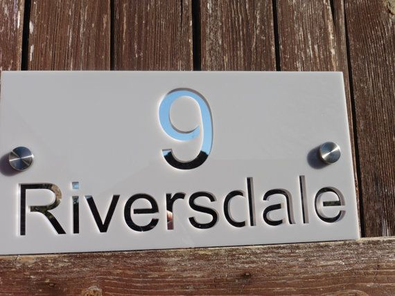 Acrylic house sign personalised house sign house number street name unusual modern unique by woodenphotomemories