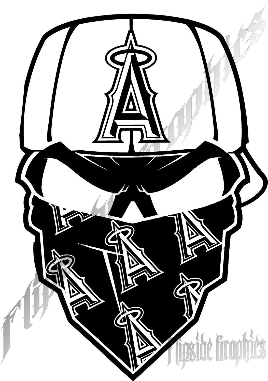 Decal Custom Bandana Los Angeles Angels Rv Trucks Tailgates Boat 2x 29 95 Via Shopseen Anaheim Angels Angels Baseball Los Angeles Angels [ 1500 x 1053 Pixel ]