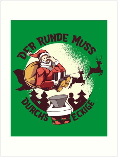 'Funny soccer Santa Claus' Art Print by torlei565   Soccer ...