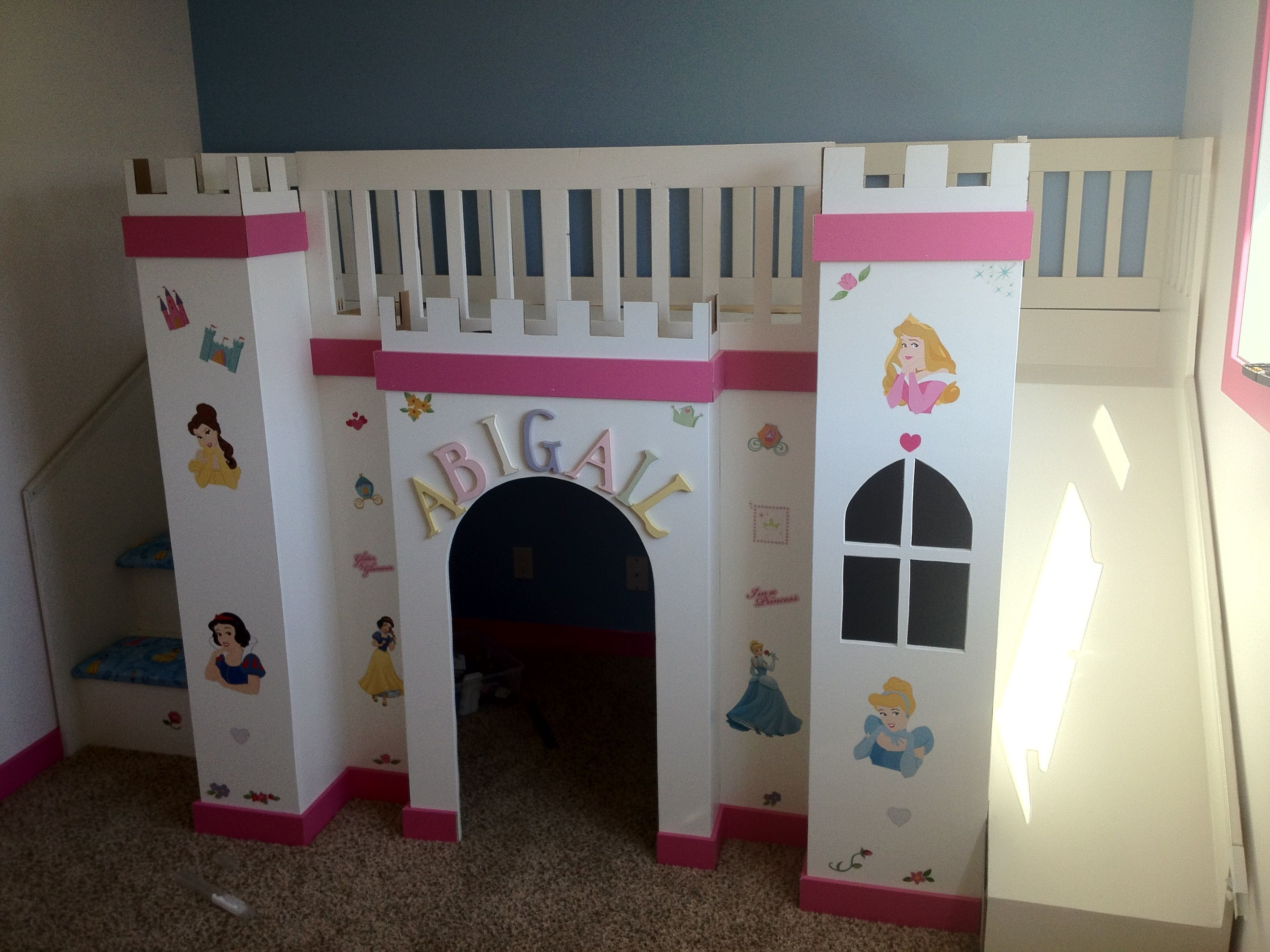 Castle Loft Bed from Ana White Castle bed, Bunk bed