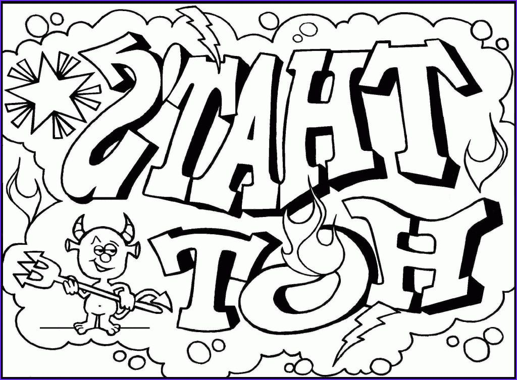 45 Awesome Collection Of Coloring Pages For Teenagers Graffiti In