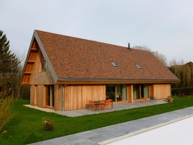 Une maison francilienne inspirée des granges de la région - prix d une construction de maison