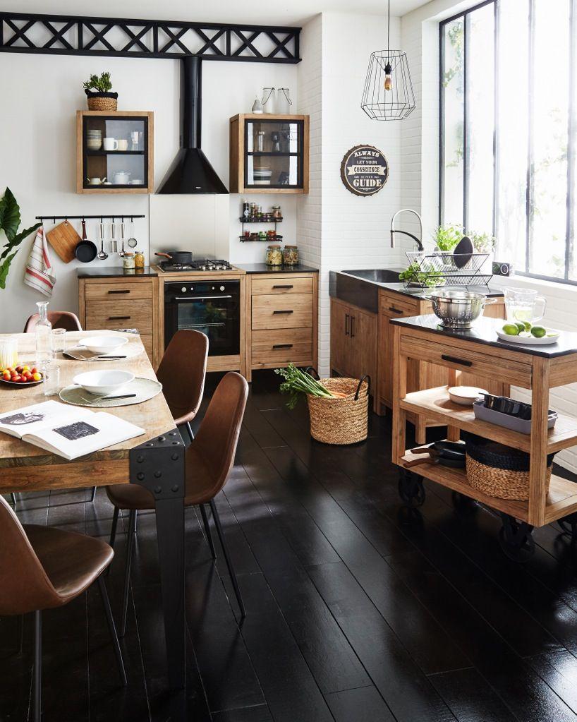 Tendance indus d coration d co maison alin a a table cuisine en 2019 pinterest - Table cuisine alinea ...