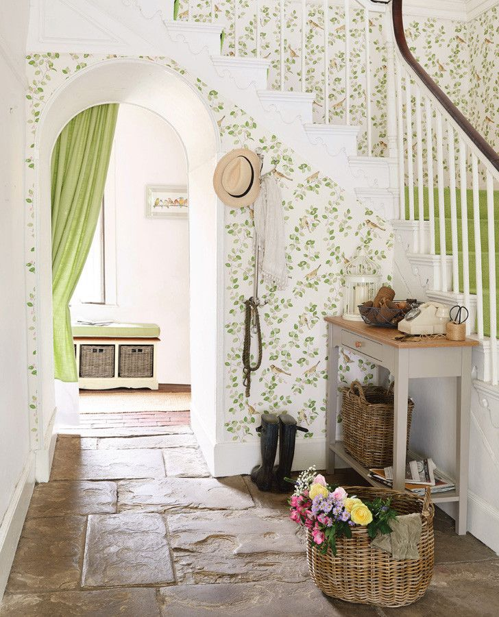 Aviary Garden Wallpaper Room Inspiration | Welcoming Walls ...