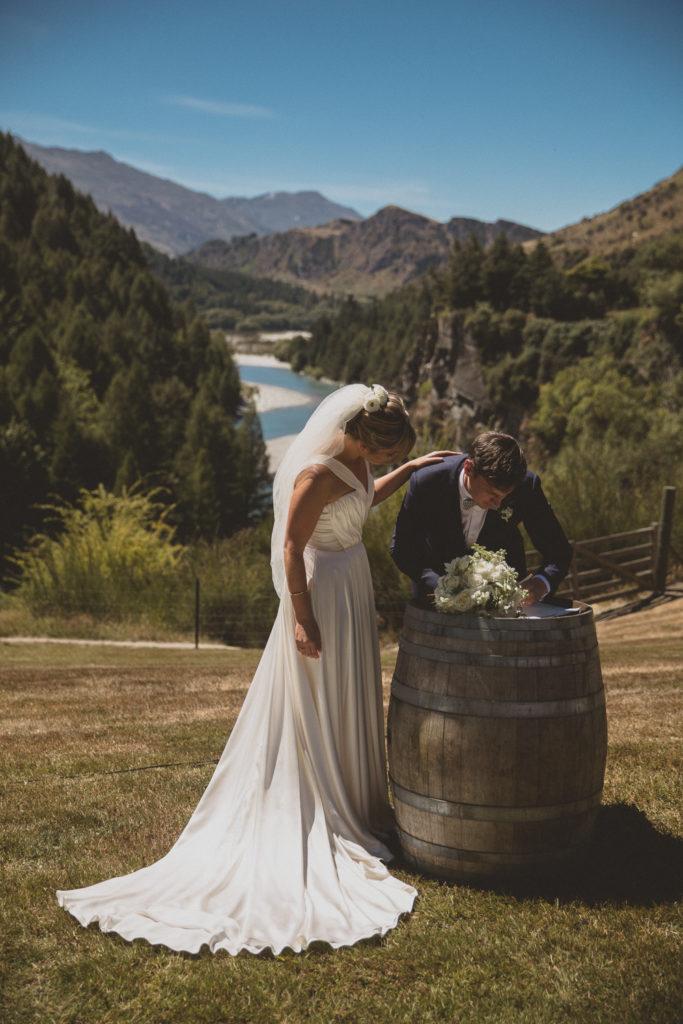 Queenstown Wedding Hire Wine Barrel Ceremony New Zealand Wine Barrel Queenstown Wedding Wedding Hire
