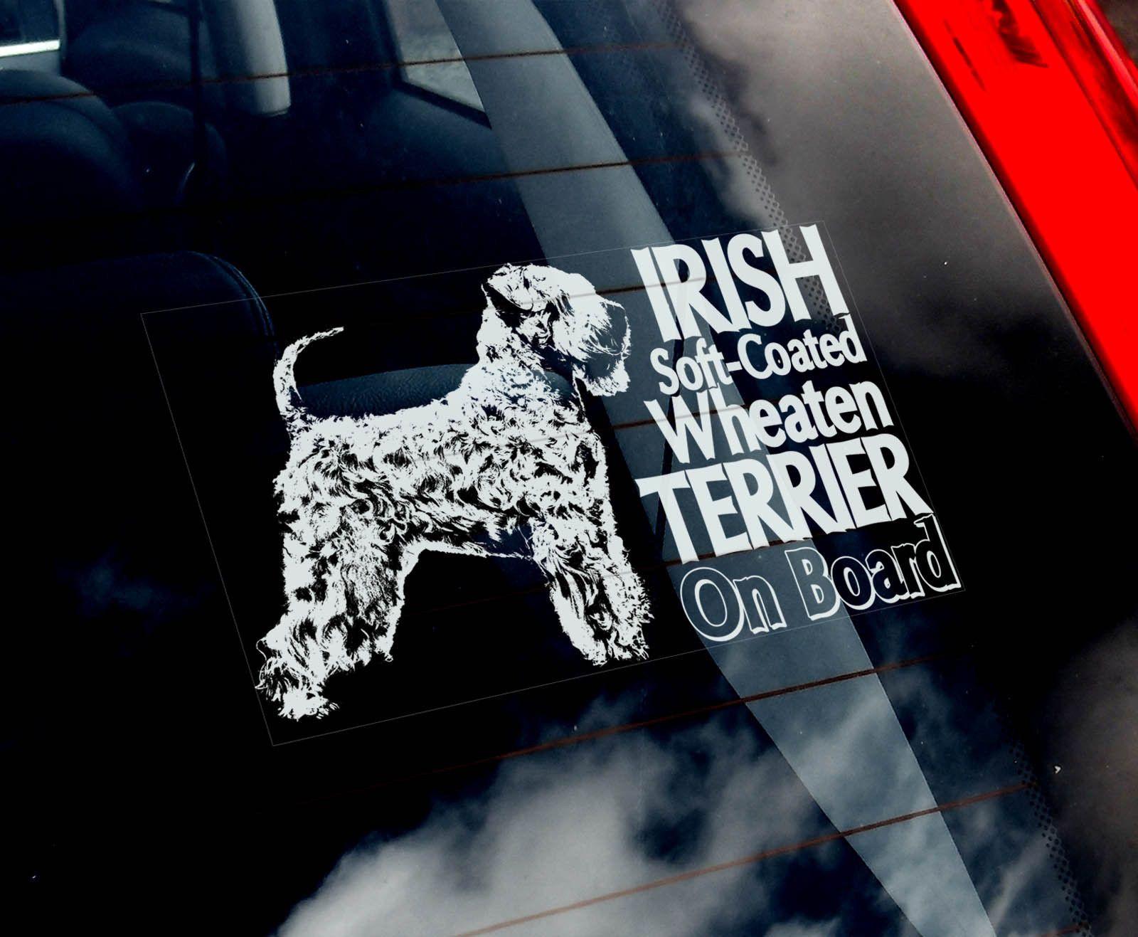 Irish Soft Coated Wheaten Terrier Car Window Sticker Dog Sign N Collar Ebay [ 1317 x 1600 Pixel ]