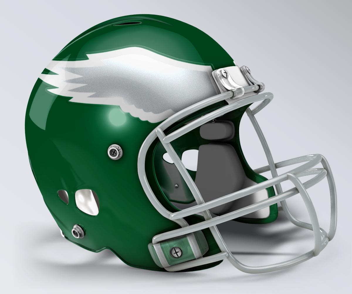 Philadelphia Eagles Throwback Helmet Football Helmets Professional Football Teams Professional Football