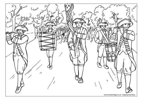 Fourth Of July Parade Colouring Page Coloring Pages Detailed Coloring Pages Bear Coloring Pages